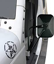 Jeep Mirrors JK JL TJ YJ CJ. Easy-Install Adventure Mirrors + Bonus Product. Improved Design. for All Jeep Wrangler. Quicker Install Door Hinge Mirror for Safe Doors Off Driving.