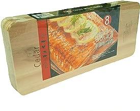 Coastal Cuisine Large Cedar Grilling/Barbecue Planks Set of 8 (2-Pack)