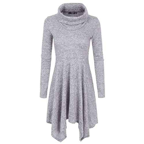 149b2f70731 NINEXIS Womens Cowl Neck Long Sleeve Flowy Sweater Dress