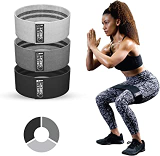Sweet Sweat Resistance Hip Bands with 3 Levels of Resistance   Non-Slip Fabric Booty Bands for Squats & Lunges   Includes ...