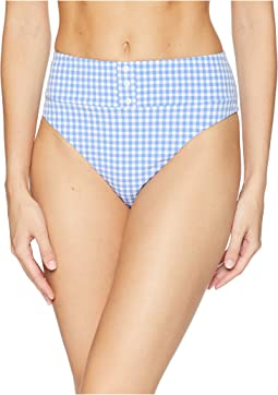 Capri Gingham Pin Up High Leg Bikini Bottom