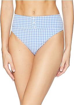 Capri Gingham Pin Up High Leg Bikini Bottom