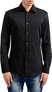 14' Men's Black Long Sleeve Dress Shirt