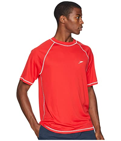 Speedo Easy S/S Swim Tee (Red) Men