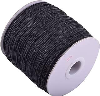 KONMAY 1 Roll 175yd Braided 1.5mm Nylon Shamballa MacramÃ/Beading Cord Lift Shade Cord (Black 900)
