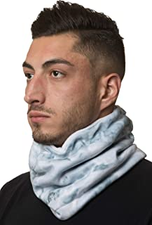 Aqua Design Neck Warmer Men Gaiter: Winter Cold Weather Camo Fleece Face Mask