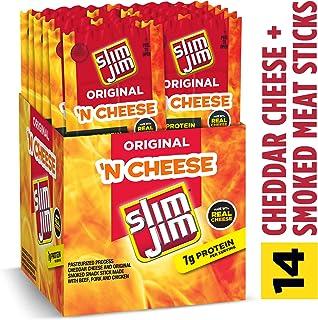 Slim Jim Mild Beef & Cheese, 3 Oz (Pack Of 18)