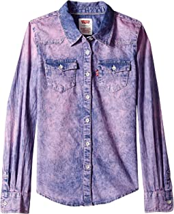 Western Long Sleeve Denim Top (Big Kids)