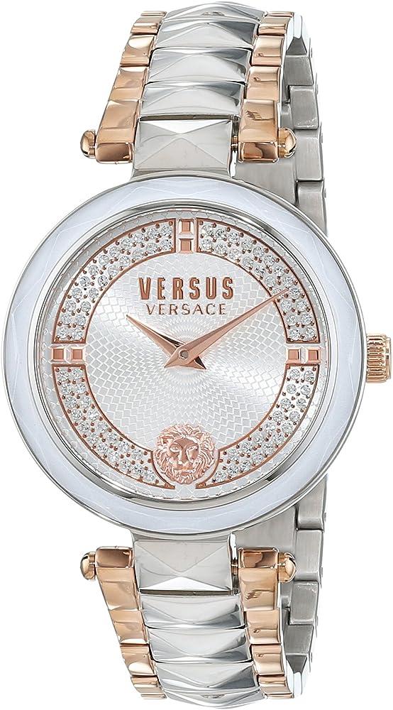 Versus versace orologio analogiico donna con cinturino in acciaio inox VSPCD2517