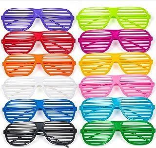 6598c54a8a Comius Gafas de Fiesta, 12 Pares Gafas de Sol de persiana para Fiestas de  Juguete