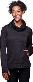 RBX Active Women's Brushed Back Space Dye Cozy Cowl Neck Pullover Tunic
