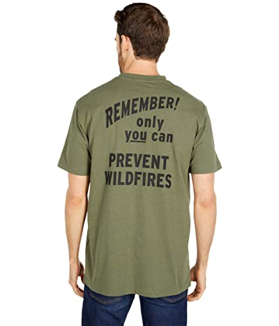 Filson Smokey Bear Short Sleeve One-Pocket T-Shirt (Service Green) Men