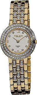 Akribos XXIV Women's AK598YG Gold-Tone Impeccable Diamond Swiss Quartz Bracelet Watch