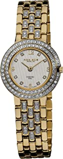 Akribos XXIV Women's AK598YG Gold-Tone Impeccable Diamond Swiss Quartz Bracelet Watch