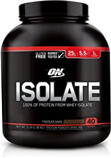 Optimum Nutrition ON Whey Protein Isolate, Chocolate Shake Flavor, 3.00 Pound