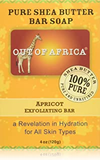 Out Of Africa Apricot Exfoliating Shea Butter Bar Soap, 4-Ounce Boxes (Pack of 4)