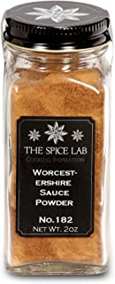 The Spice Lab Worcestershire Powder - Made from Real Worcestershire Sauce Powder - 2.5 oz. - Chef's Secret Ingredient – Used on Meats for Umami Powder Flavor - Kosher Gluten Free Non GMO - French Jar