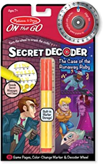 Melissa & Doug On the Go Secret Decoder Activity Book - The Case of the Runaway Ruby (Great Gift for Girls and Boys - Best for 7, 8, 9, 10, 11 Year Olds and Up)