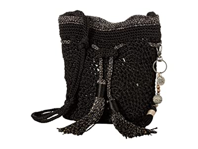 The Sak Sayulita Mini Drawstring (Black) Handbags