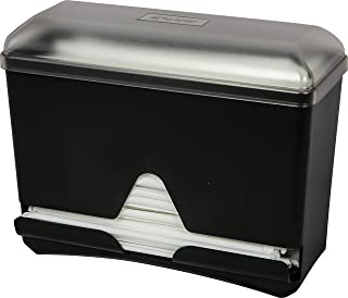 San Jamar ST250 Countertop Bulk Straw Dispenser, 250 Wrapped Straw Capacity, Black