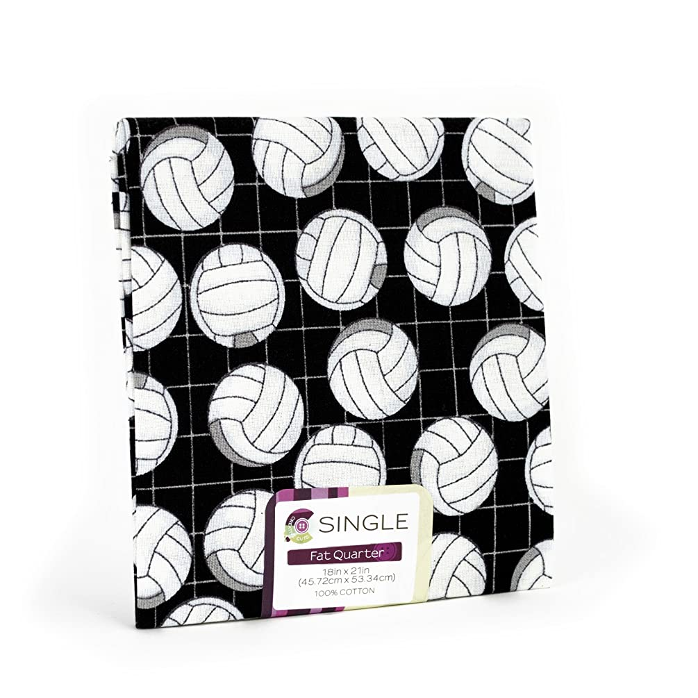Black and White Volleyball Fat Quarter (18