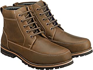 Samuel Windsor Men's Handmade Italian Leather Lace-up Casual Boots