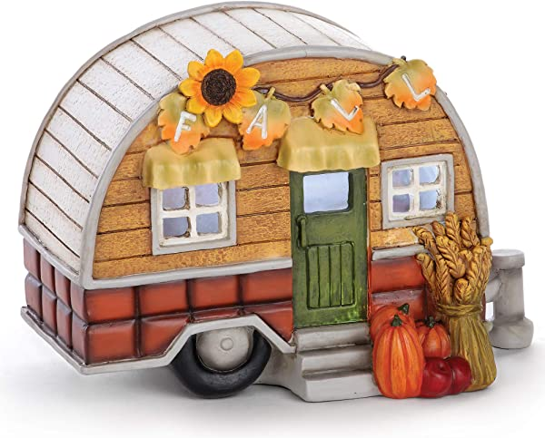 Napco Harvest Orange Camper LED 6 X 8 5 Acrylic Decorative Figurine