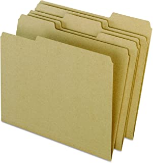 Earthwise by Pendaflex 04342 Recycled File Folders, 1/3 Top Tab, LTR, Natural (Box of 100)