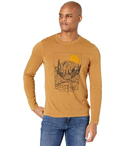 Toad&Co Get Out Of Town Long Sleeve Tee (Husk Vintage Wash) Men