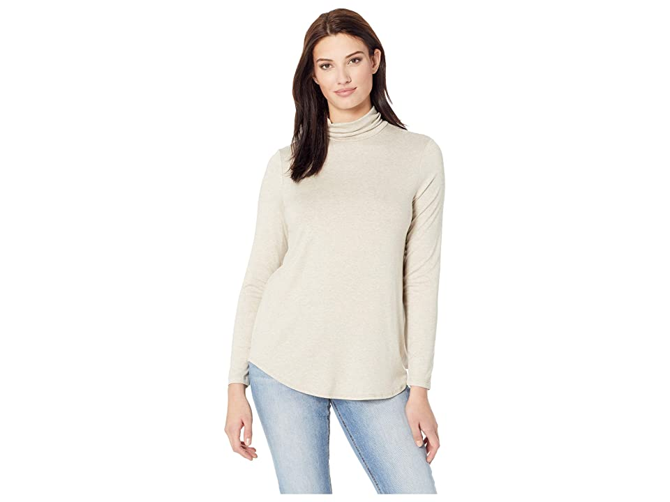 Karen Kane Shaped Turtleneck Tee (Oatmeal) Women