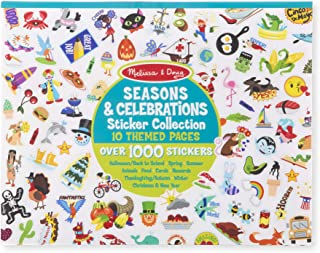 Melissa & Doug Sticker Collection Book: 1,000 Plus Stickers – Seasons and Celebrations, Multicolor
