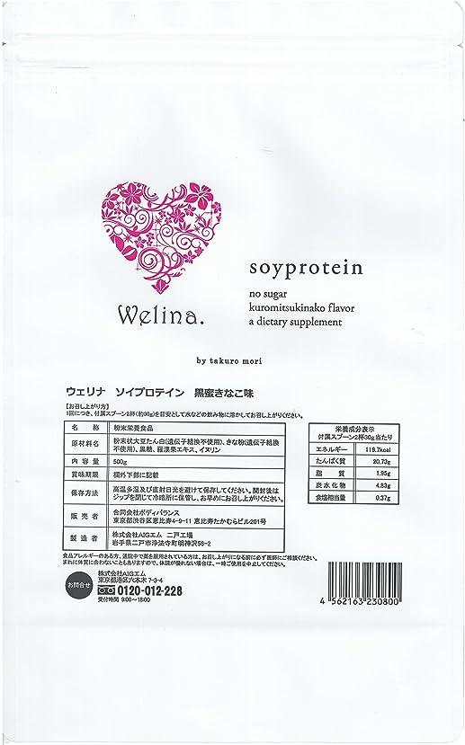リテラシー失速繊毛ウェリナ ソイプロテイン 黒蜜きなこ味 500g