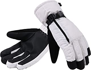 ANDORRA Men Waterproof Thinsulate Insulation Touchscreen Winter Ski Gloves with Zippered