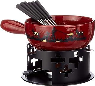 KUHN RIKON 32178Souffleur Set à Fondue de Fromage Cor 9pièces Comprenant Caquelon à Fondue savoyarde, brûleur, pâte Comb...