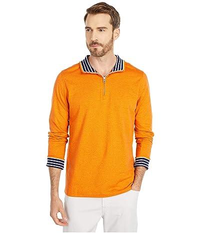Robert Graham Triple Crown 1/4 Zip Sweater (Orange) Men