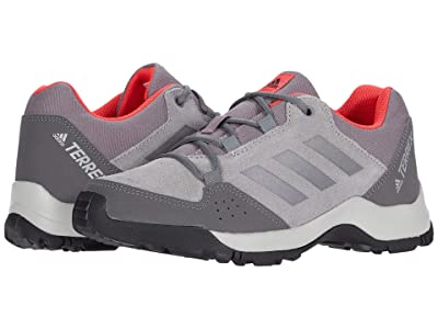 adidas Outdoor Kids Terrex Hyperhiker Low Leather (Little Kid/Big Kid) (Grey Three/Grey Three/Shock Red) Girl