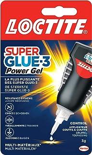 Loctite Super Glue-3 Power Gel Control, Colle instantanée surpuissante avec débit contrôlé, Colle universelle pour la plup...