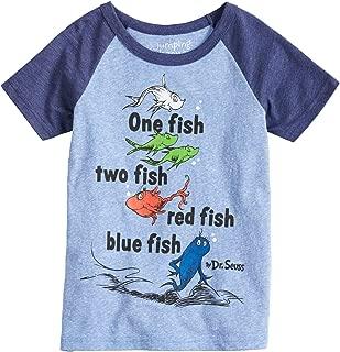 Boys 4-10 Dr. Seuss One Fish Two Fish Raglan Graphic Tee