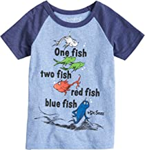 Jumping Beans Boys 4-10 Dr. Seuss One Fish Two Fish Raglan Graphic Tee