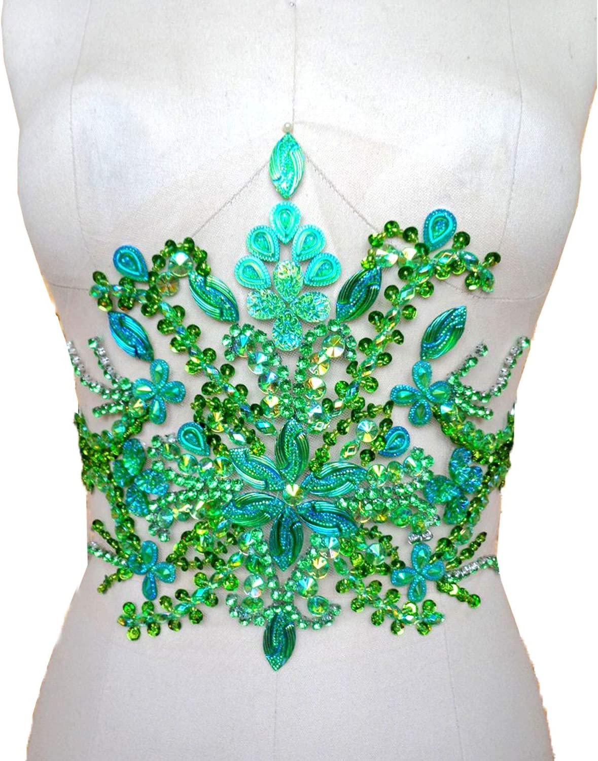 Rhinestone Applique Dress Belt Purchase Limited Special Price Colorful L Beaded Stones Sequined