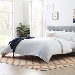 Linenspa Microfiber Duvet Cover - Three Piece Set Includes Duvet Cover and Two Shams - Soft Brushed Microfiber - Hypoaller...
