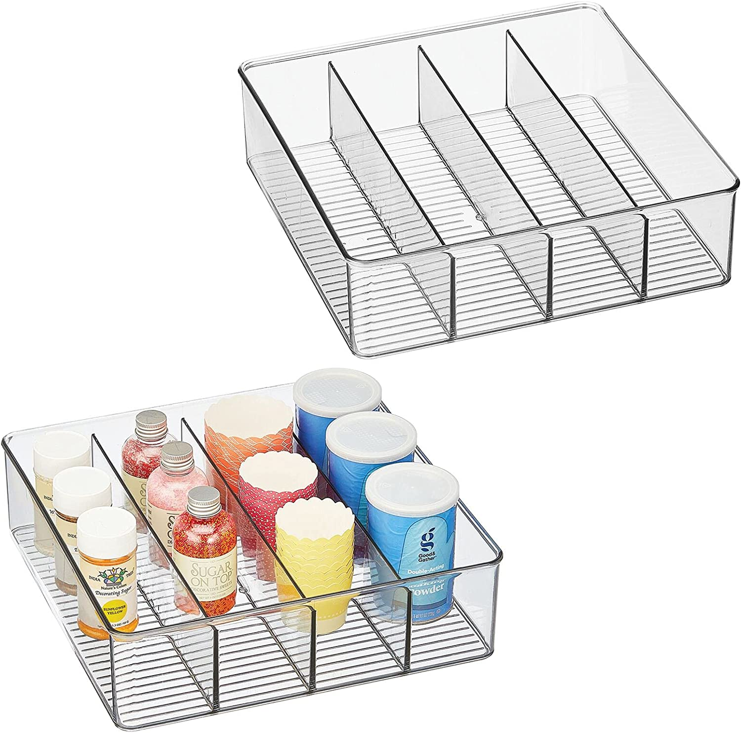 Beauty products mDesign Plastic Kitchen Pantry Storage Organizer - Popular shop is the lowest price challenge Div Box 4 Bin