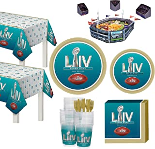 Party City Super Bowl Infladium Tableware Supplies for 36 Guests, Include a Snack Stadium, Plates, Napkins, and More