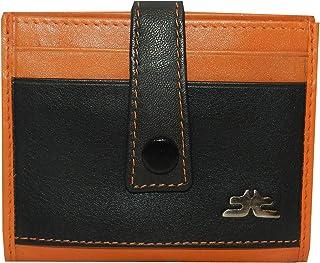Laveri Orange Leather For Unisex - Card & ID Cases