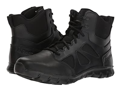 Reebok Work Sublite Cushion Tactical 6 Boot (Black) Men