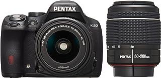 RICOH デジタル一眼レフ PENTAX K-50 DAL18-55mmWR・DAL50-200mmWRダブルズームキット ブラック K-50 WZOOM KIT BLACK 10907