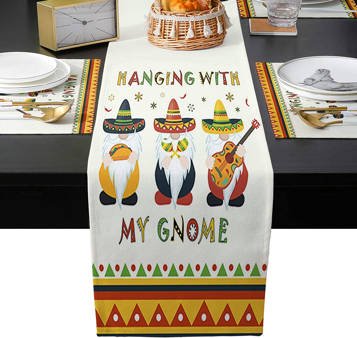 Flouky Placemats Set of 6 Max 64% OFF with Super popular specialty store Outdoor for Indoor Table Runners