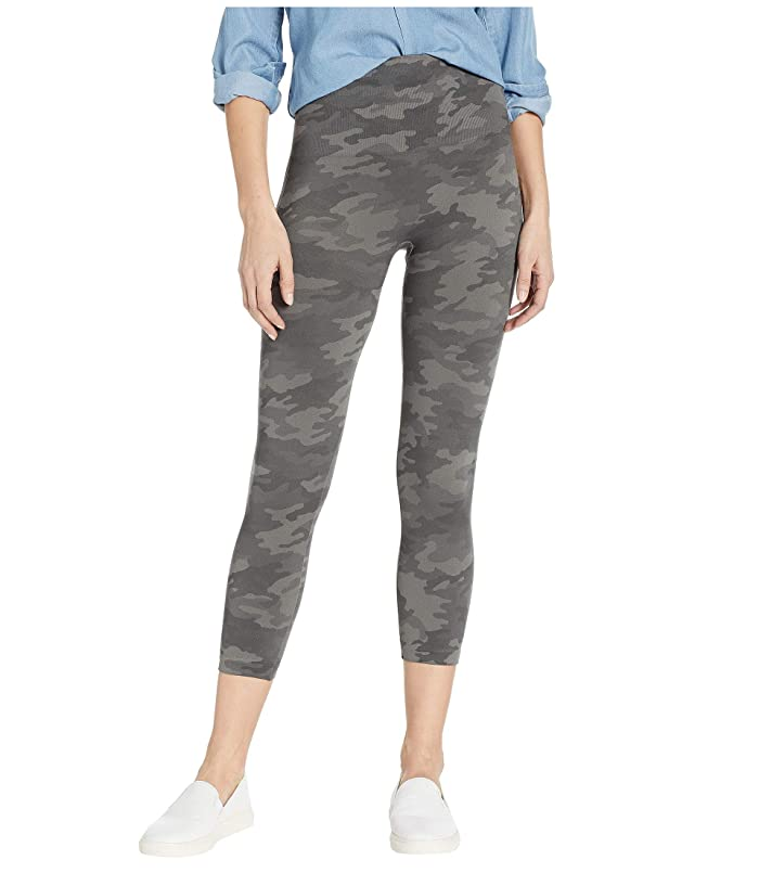 Spanx Look At Me Now Cropped Seamless Leggings (Sage Camo) Women