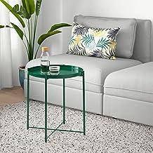 طاولة جانبية، للسرير، غرفة المعيشة، غرف النوم، صينية قابلة للازالة، اخضر