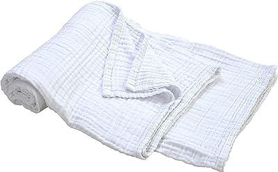京都 西川 タオルケット ガーゼケット シングル セブンデイズ 綿100% 洗える清潔 冷房対策 やわらか 3重ガーゼ ホワイト 02712419
